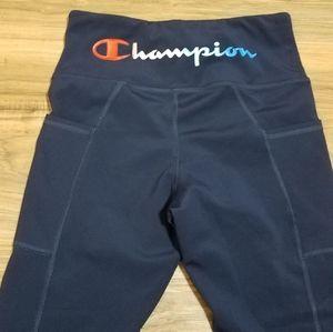 Champion navy workout legging size small